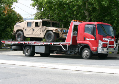 Transporting a humvee interstate