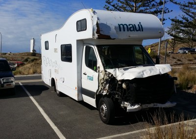 Towing a badly damaged caravan interstate