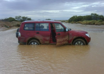 A car recovered from river in an emergency vehicle recovery operation
